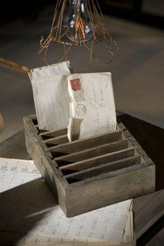 Rustic Wood Letter Holders by Vagabond Vintage