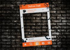 Halloween photo booth prop DIGITAL FILE Printable by IRMdesgn Halloween Office, Halloween 2015, Halloween Photos, Halloween Treats, Halloween Party, Haunted Halloween, Halloween Photo Booth Props, Party Frame, Photo Booth Frame
