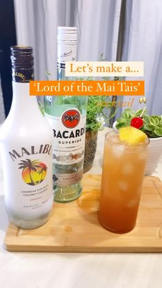 Mixed Drinks Alcohol, Alcohol Drink Recipes, Mix Drink Recipes, Mixed Drinks With Rum, Mixed Alcoholic Drinks, Drinks With Malibu Rum, Simple Mixed Drinks, Fun Summer Drinks Alcohol, Summer Mixed Drinks