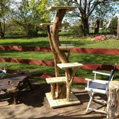 Why outdoor cat trees ? Outdoor trees are very useful if you are a breeder, operate a shelter, or foster cats. This way the cats can get up off the wet or snow covered ground and bask in the sun. These outdoor trees are made with Outdoor Cat Tree, Outdoor Dog Toys, Smart Dog Toys, Huge Cat, Cat Kennel, Outdoor Cat Enclosure, Diy Cat Tree, Pet Corner, Pet Hotel