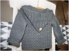 70 ideas baby boy crochet cardigan link for 2019 Crochet Baby Sweater Pattern, Baby Sweater Patterns, Crochet Cardigan, Baby Patterns, Crochet Bebe, Crochet For Boys, Boy Crochet, Crochet Baby Clothes, Baby Sweaters