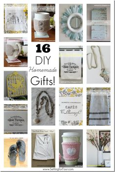 ~ Looking for DIY gifts to make for her: birthdays, Mother's Day and holidays? See these 16 Beautiful Gifts to Make - you'll love to make and give!