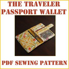 INSTANT DOWNLOAD The Traveler Passport Wallet PDF sewing pattern