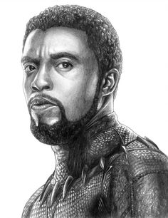 Marvel Drawing Black Panther (T'Challa) - Avengers (Infinity War) by - Avengers Drawings, Avengers Art, Hero Black, Black Panther Drawing, Superhero Sketches, Dibujos Tumblr A Color, Black Panthers, Marvel Fan Art, Celebrity Drawings