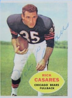 1960 Topps Rick Casares Football autographed trading card