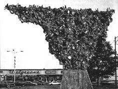 Berwyn trash sculpture