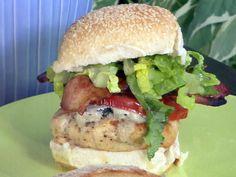 Chicken Cobb burger by Bobby Flay.