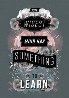 The wisest mind has something yet to learn word art print poster black white motivational quote inspirational words of wisdom motivationmonday Scandinavian fashionista fitness inspiration motivation typography home decor