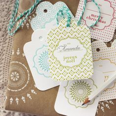 Pretty letterpressed gift tags.