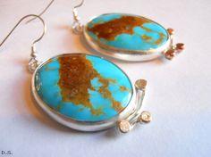Handmade Handmade Earrings Southwestern Blue by LostPondStudios