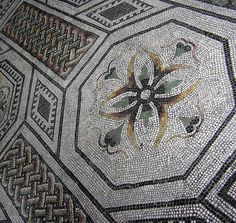 mosaic patterns | Interior. Interior Design. Ancient mosaic (a flower and pattern)