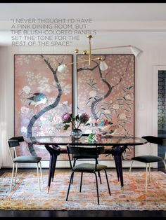 Love this Charlotte Lucas dining room from Domino Summer 2016
