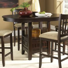 Garrett 7 Piece Counter Height Dining Set With Premium