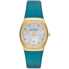 Skagen Women's SKW2114 Classic Charlotte Leather Watch | Overstock.com Shopping - Big Discounts on Skagen Skagen Women's Watches