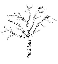 typeface tree w. directions