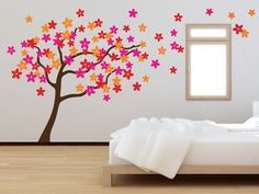 The Binary Box Black/Multi Large Flower Tree Wall Stickers Girl Bedroom Walls, Bedroom Themes, Home Decor Bedroom, Teen Bedroom, Bedroom Ideas, Bedroom Furniture, Graffiti Wallpaper, Wallpaper Murals, Teenage Girl Bedrooms