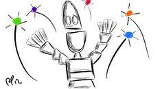 Even robots got Spirit Fingers!