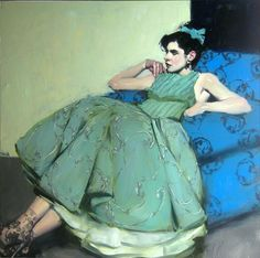 Malcolm Liepke -Green Dress, 2013