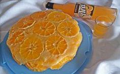 torta rovesciata all'arancia, liquore all'arancia arà