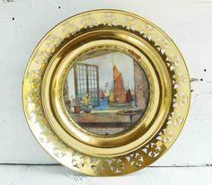 Vintage Round Brass Frame