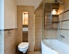 Łazienka w brązach realizacja - Mała łazienka, styl nowoczesny - zdjęcie od All Design Agnieszka Lorenc
