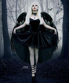 Fallen Angel. Love the wings!                              …