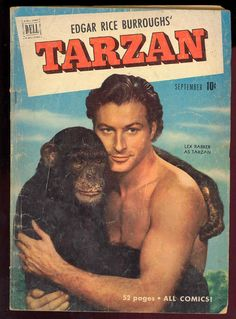 Dell Comics Tarzan 24 Lex Barker Photo Cover 1951 on PopScreen Vintage Comic Books, Vintage Comics, Tarzan Actors, Tarzan Johnny Weissmuller, Theater, Old Comics, Kids Tv, Series Movies, Comedians