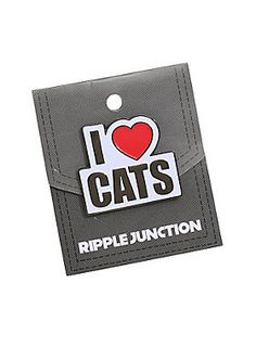 """Cats rule! Dogs drool!<br><br>Metal & enamel pin featuring a bold """"I (Heart) Cats"""" text design. Purr-fect!<br><ul><li style=""""list-style-position: inside !important; list-style-type: disc !important"""">Iron</li><li style=""""list-style-position: inside !important; list-style-type: disc !important"""">Imported<br></li></ul>"""