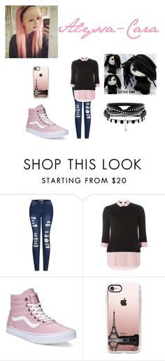 """""""Alyssa-Cara my friend"""" by kya-mya ❤ liked on Polyvore featuring 2LUV, Dorothy Perkins, Vans and Casetify"""