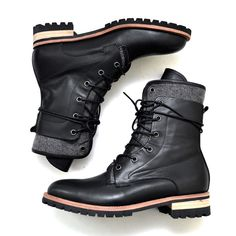 Double Contrast Layer High Boots-Shoes 354 - GUYLOOK