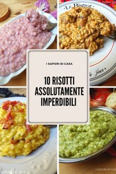 the most popular food in italy Meat Recipes, Cooking Recipes, Healthy Recipes, Italian Food Restaurant, Risotto Recipes, Couscous, Rice Dishes, I Foods, Italian Recipes