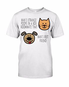 DOG0CAT1 Cat Dog Cartoon, Mans Best Friend, Best Friends, Classic T Shirts, Posters, Mens Tops, Fashion, Beat Friends, Moda