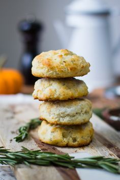 These Rosemary Parmesan Buttermilk Biscuits as SO yummy and a good flavor twist on the classic buttermilk biscuit. The whole family will LOVE these!