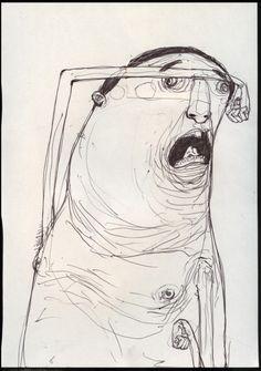 64 Interesting Pencil Drawing Ideas - New Art Bizarre, Weird Art, Art Inspo, Art Sketches, Art Drawings, Art Du Croquis, Trash Art, Art Et Illustration, Street Artists