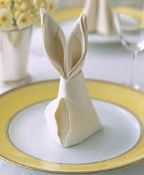 So cute! Napkins for Easter.