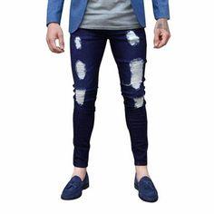 28b490509fba Men Jeans. Feitong New Mens Fashion Pants Skinny Denim Rip ...