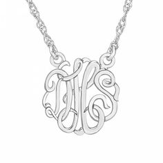 Posh Mommy 3 Letter Script Small Necklace Ships Free