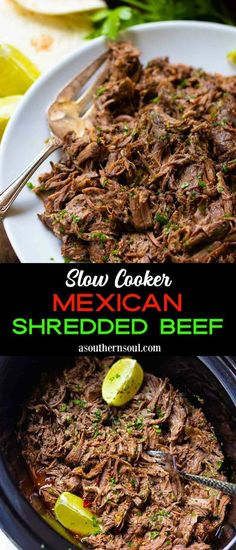 This Slow Cooker Mexican Shredded Beef is fall-apart tender and loaded with deep, rich flavor. It's terrific for tacos, enchiladas, and nachos or piled over rice and beans for burritos bowls. With so many yummy uses, you can let your imagination run wild!