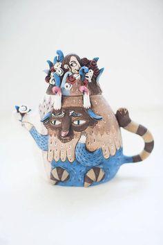 Ceramic Teapot  Clay Teapot  Handmade Pottery  by CalacaCeramicArt