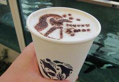 Penguin latte....I want one!