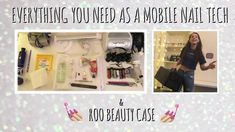 Everything you need as a mobile nail tech | Mobile nail tech case