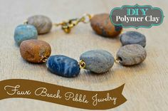 Faux Stone Jewelry from Polymer Clay