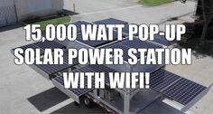 Amazing Shipping Container Transforms Into 15,000 Watt Pop-Up Solar Power Station with Wifi!