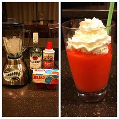 Made keto strawberry daiquiris tonight. They're so easy and so good you guys! Blend ice, sugar free jello, and rum in a blender (the ratios of each are based on your taste). Top with whipped cream. That's it! Tastes just like the sugar loaded drinks you get out without all the guilt! You can also use different flavors of jello or even lime jello with tequila to make margaritas. Cheers! Happy st Patrick's day everyone! #happystpatricksday #stpatricksday #cheers #sugarfree #jello #rum #bacardi…