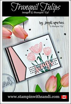 Stampin Up Tranquil Tulips Hugs Card, Background Bits Stamp set from Stampin Up, stampin with sandi, sandi maciver, Canadian Stampin Up Demonstrator, Stampin Up Card Ideas, sympathy cards, Cards made with Stampin Up Products,
