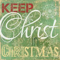 Keep Christ in Christmas I