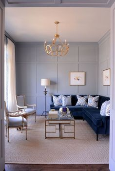 43 Cozy And Luxury Blue Living Room Ideas