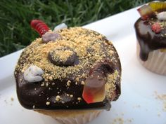 Mud & Worm Cupcakes (April Fools?)