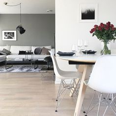 Were getting our #MondayMotivation from Veronica and her stunningly styled home. :: Were feeling inspired. Which piece would you choose first for you home? 1. Louis Poulsen Panthella Mini 2. Vitra Eames LTR Side Table 3. Gubi Multi Lite Pendant Light 4. Vitra Eames DSR Dining Chair ::  Credit : @palettenoir