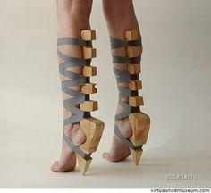 Insane High Heels That Will Make Your Feet Hurt Crazy, crazy shoesCrazy, crazy shoes Weird Fashion, Fashion Shoes, High Fashion, Green Fashion, London Fashion, Fashion Art, Crazy High Heels, Funny Shoes, Weird Shoes
